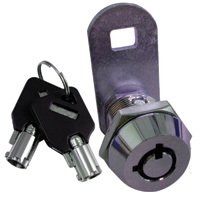 A tubular cam lock heightens security.