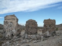 These are some of the ruins at the Tumco ghost town.