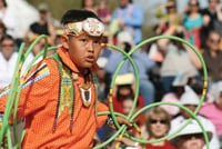 A hoop dance contest is an annual event at the Heard.
