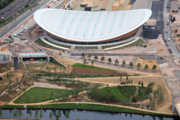 Cycling events will be conducted at the new Velodrome in Olympic Park.