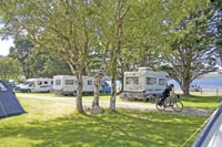 This RV campground is in Scotland but it is typical of the RV campsites available in the U.K. through the Camping and Caravanning Club.