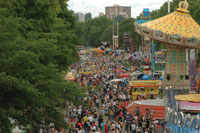 CityFair on the waterfront in Portland is a major part of the Portland Rose Festival.
