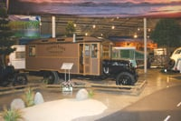 Classic motorhomes and trailers are on view at the RV/MH Hall of Fame in Elkhart, Indiana.