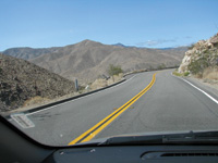 The open road beckons writer Sharlene Minshall after she escapes San Diego traffic.