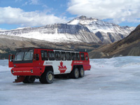 The Brewster Ice Explorer takes visitors onto a glacier.