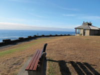 Shore Aces State Park offers expansive views of the Oregon coastline.