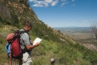 The Knife Edge Trail lets hikers explore Mesa Verde National Park.
