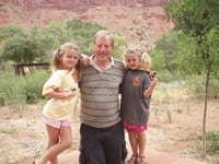 Cary Krall helped granddaughters Taylor and Hailey become Junior Rangers.