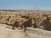 Badlands are a  part of Anza Borrego State Park.