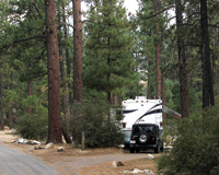 Hurkey Creek Park is one of several RV campgrounds in Idyllwild.