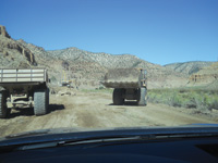 Construction work makes a drive on Nine Mile Canyon a test of patience.