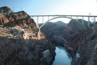 The Mike O'Callaghan-Pat Tillman Memorial Bridge spans the Colorado River.