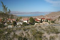 Hoover Dam construction workers who lived in the houses at left wouldn't recognize Boulder City today.