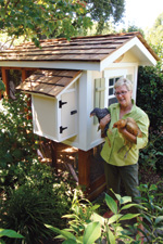 The Tour de Cluck bike tour in Davis visits fancy chicken coops like this one belonging to Jacqueline (Jake) Clemens.