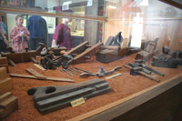 Woodworking tools were used by prisoners.