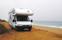 The coast of Spain was this motorhome's destination.