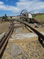 Mine cars once hauled silver and zinc ore on these tracks.