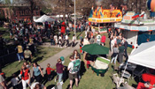 The Apple Blossom Festival draws crowds to Memorial Park in Wenatchee.