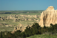 This view at Badlands National Park overlooks the White River Valley.