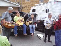 Groups gather everywhere in Mountain View to jam.