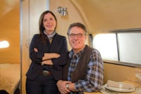 John Long and his wife, Heléna Mitchell, are building an updated version of the classic Bowlus Road Chief travel trailer.