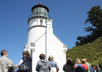 Oregon's Heceta Head Lighthouse has reopened to tourists after a two-year restoration.