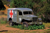 An old truck is a relic from the M*A*S*H TV series.