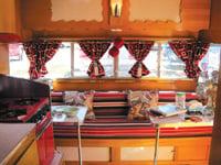 Vicky Nash designed the colorful retro interior.