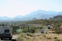 Caravan tours are a popular way to travel in Baja California.