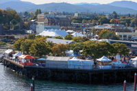 The Port Angeles city pier is the site of the annual Dungeness Crab and Seafood Festival.