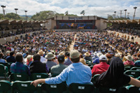 The Monterey Jazz Festival includes a main stage and seven others.