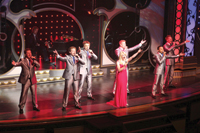 Janice Martin and the ShowMen perform aboard Showboat Branson Belle.