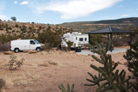 RVers can camp at the Joe Skeen Campground near El Malpais National Monument.
