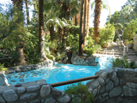 Mineral waters fill a pool at Two Bunch Palms Resort and Spa.