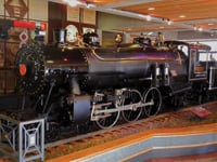 The California State Railroad Museum features restored locomotives.