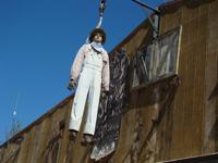Tortilla Flat's symbol is a hangman's noose.
