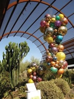 Art and plants mix at the Desert Botanical Garden.
