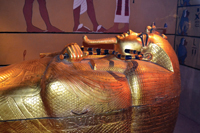 A replica of King Tut's tomb resides in Las Vegas.