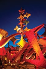 Signs fill two and a half acres at the Neon Museum.