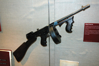 The Thompson submachine gun was prized by mobsters.