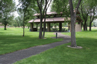 Three Island Crossing State  Park includes picnic areas.