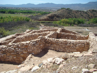 Tuzigoot National Monument has ruins from 800 years ago.