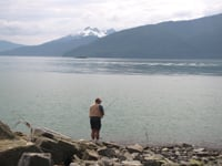 Fishermen can find salmon and trout at Wrangell.
