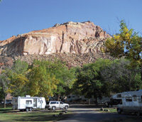 RVers can camp inside the Fruita Historic District.