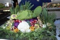 Artichoke art is featured at Castroville's Artichoke Festival.