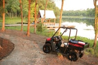 This Club Car utility vehicle can be driven around an RV park or into the woods on a hunting trip.