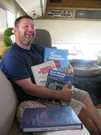 The owner of a vintage motorhome needs a good supply of repair guides.