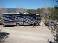 There are RV parks near White Sands National Monument.