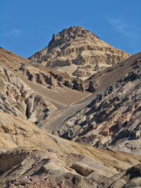 Artist's Palette presents a variety of geological formations.