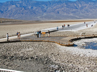Badwater Basin is the lowest point in the Western Hemisphere.